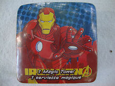 "NEW 12"" Avengers  Iron Man Magic Towel Wash Cloth Washcloth Cotton Grows Expands"