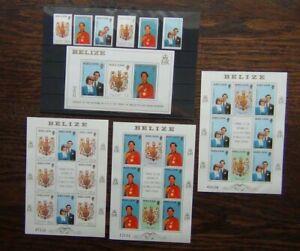 Belize 1981 Royal Wedding set Miniature Sheet & Sheets MNH