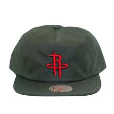 Houston Rockets Ballistic Nylon Rubber Mitchell and Ness Snapback