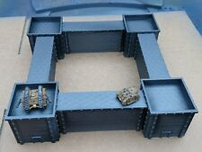 *SCENERY* 8 fortress sections. Ideal for Epic, Dystopian Wars, Adeptus Titanicus
