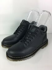 Men's Dr Martens Boots Black Textured Ankle Lace Up Air Cushion Sole Size 9