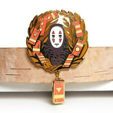 No Face Spirited Away Enamel Pin 2x2 inch with .75 inch pendant