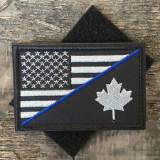 2*3 USA American Flag Canadian Flag Military Tactical Morale Desert Badge Patch