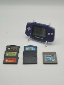 Nintendo Game Boy Advance purple plus 7 Games