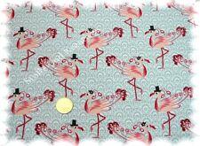 Flamingo-Jersey Stretch-Jersey grau 50 cm Meterware