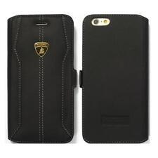 Lamborghini Huracan-D1 Leather Ultra Slim Side Flip Case for iPhone 6/6s BLACK
