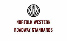 Norfolk Western Standard Roadway Drawings N&W NW Plans