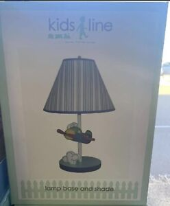 Kidsline Come Fly With Me Nursery Lamp And Shade Brand New