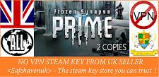 Frozen Synapse Prime (2 Copies) Steam key NO VPN Region Free UK Seller