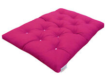 Mylayabout Foam Crumb Futon Mattress | Roll out Spare Guest Bed | 9 Colours 190cm X 140cm Fuchsia