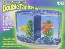 Penn Plax Betta Bow-Front Double Tank Kit Aquarium Kit