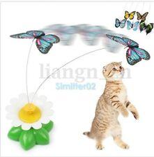 Jouet Pour Chat Chaton Electrique Papillon Fleur Rotation Animal Jeu Cat Teaser