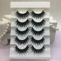 5 Pairs Mink 3D Volume Corner Thick Eyelashes Lashes False Strip Makeup