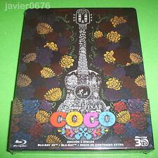 COCO DISNEY PIXAR BLU-RAY 3D + BLU-RAY + BLU-RAY EXTRAS NUEVO EDICION STEELBOOK