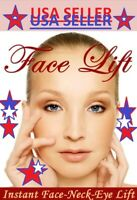 Instant Face Neck and Eye Lift Facelift Tapes AND Bands 40 piece set-LIGHT HAIR