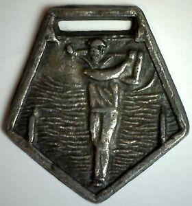 Vintage Silvertone Golf Medal Award Fob Golfer Key Fob