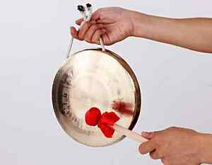 """Copper gong hand forging 8"""" celebration Chinese with Mallet mediant"""