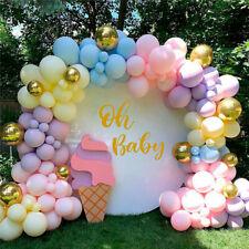 122PCS Macaron Pastel Balloon Arch Garland Kit Wedding Birthday Party Decor