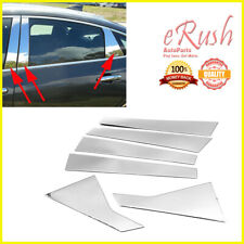 FITS 2016-2020 CHEVROLET MALIBU 6PCS POLISH STAINLESS STEEL DOOR PILLAR SET TRIM