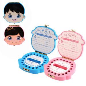 Kids Boy & Girl Wood Tooth Box Organizer Milk Teeth Storage Baby Save Wood Made