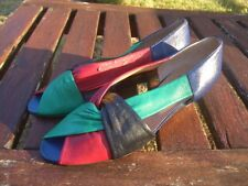 Scarpe multicolore NUOVE VERA PELLE VERO CUOIO N°37 Genuine leather shoes