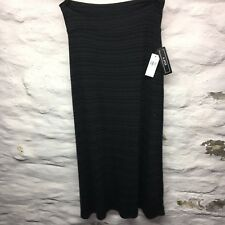 Ladies A. Byer Gray Black Striped Maxi Skirt Size Small New NWT B