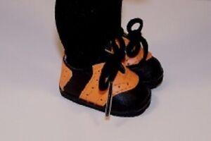 Halloween  BLACK ORANGE Saddle Doll Shoes For 10 Ann Estelle Sophie Patsy (Debs