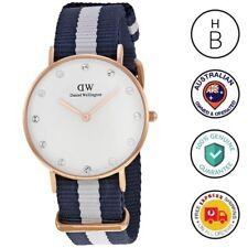 New Daniel Wellington Lady Watch Classy Glasgow Rose Gold Nato Strap 34MM 0953DW