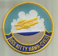 USS KITTY HAWK CV63 U.S.NAVY PATCH AIRCRAFTCARRIER SAILOR SOLDIER USA AIRPLANES