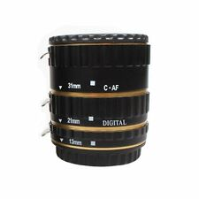 UK Store! CameraPlus® Macro Extension Tube Set Gold (13mm, 21mm, 31mm) For Canon