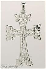 Croix arménienne en argent massif ajourée - Arménie