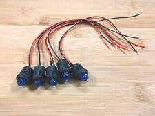 5 BBT 12 volt Blue LED 12mm Indicator Lights