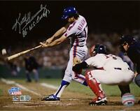 Keith Hernandez Mets Signed 8x10 86 WS Hitting Photo w/ WS Champs Insc-Fanatics