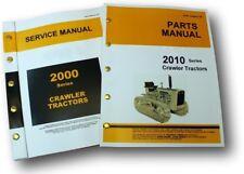SERVICE MANUAL SET FOR JOHN DEERE 2010 CRAWLER TRACTOR PARTS REPAIR SHOP