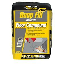 EVERBUILD DEEPFILL 750 20KG GREY CEMENT LEVELLING COMPOUND LEVEL FLOOR SCREED