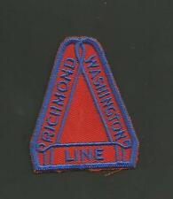 "RICHMOND WASHINGTON  LINE   RAILROAD PATCH 2 3/8 "" LONG *"