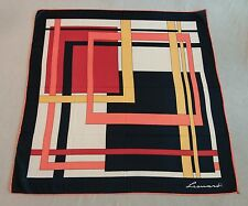 Vintage 1960s Leonardi Italy geometric print scarf 30 inches by 30 inches