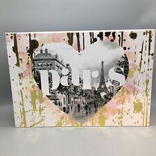"Punch Studio Paris Decorative Storage Box Eiffel Tower Pink Gold Keepsake 12"""