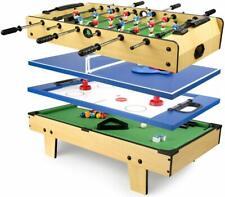 Mesa multijuegos 4 en 1 plegable- billar, futbolín, pimpón y hockey -110/24621