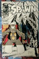 Spawn #10 (May 1993, Image) Cerebus Crossover Sims/ Mcfarlane! Fine/Very Fine!