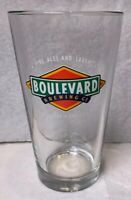 "Boulevard Brewing Ale Beer Pint Glass- Kansas City, Mo ""Fine Ales & Lagers"""