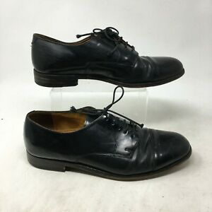 Clarks Oxford Formal Dress Shoes Lace Up Leather Round Toe Black Mens 9.5 E