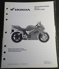 2003 HONDA MOTORCYCLE VFR800 800A SET-UP PRE-DELIVERY INSTRUCTIONS MANUAL  (664)
