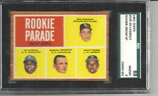 1962 TOPPS # 595 ED CHARLES ROOKIE HIGH# SP SGC 88 (8) NEAR MINT/MINT A'S BEAUTY