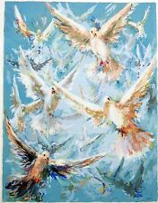 Eva Makk RARE Original Limited Edition FREE BIRD UNFRAMED SIGNED Serigraph MINT