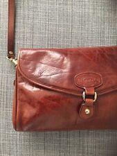 OROTON Vintage Australia Brown Leather Crossbody Shoulderbag Purse