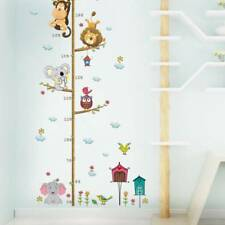 Jungle Animal Lion Monkey Owl Height Measure Wall Sticker Kids Room  Room Decor~