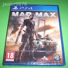 MAD MAX NUEVO Y PRECINTADO PAL ESPAÑA PLAYSTATION 4 PS4