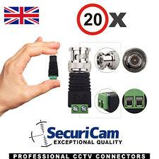 20 x conectores de alimentación Balun Video CD CA Para Tiras De Led Y Utp dispositivo antimanipulación TVI CVI Cctv