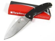 SPYDERCO Black G-10 RESILIENCE Plain Knife C142GP New!